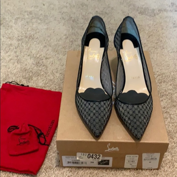 free shipping 41620 6fa67 Barely used Christian Louboutin black heels